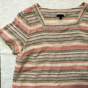 NWOT Talbots Striped Top Size M